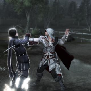 Checco meurt aux mains d'Ezio