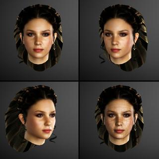 Claudia's gezichts-model