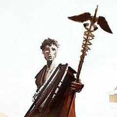 Hermes Trismegistus holding the Staff