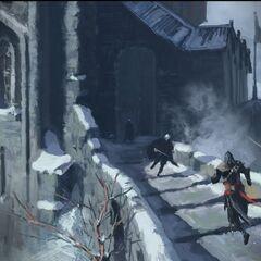 埃齐奥在城垛上遇敌