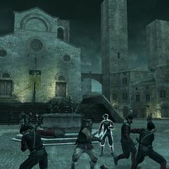 马里奥·奥迪托雷的雇佣兵在城中战斗