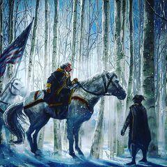Concept Art de sa rencontre avec George Washington
