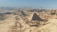 AC Origins View of pyramids looking south