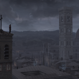Ezio en Federico bekijken Florence.