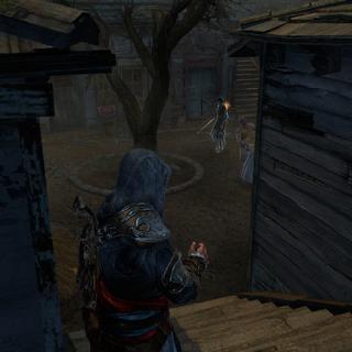 Ezio firing a <a href=