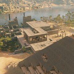 俯瞰金字塔及其附属建筑