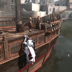 埃齐奥潜入船上