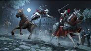 Ezio attaque cavalier Borgia