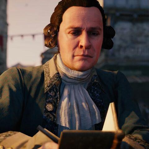 <b>Paton</b> notant les noms des traîtres de la Révolution dans son carnet