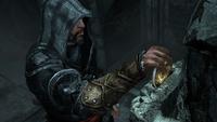 Ezio odbierający klucz do Masjafu (by Kubar906)