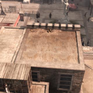 Er rennen Pazzi-mannen naar Ezio's huis.