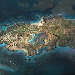 Concept-art de l'île de New Providence