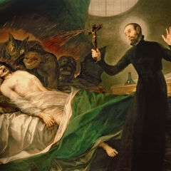 《圣弗朗西斯·博吉亚帮助一名临终者》,由<a href=