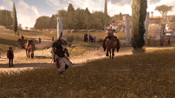 Ezio affronta cavaliere Roma