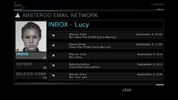 AC1 Lucy Abstergo Mail