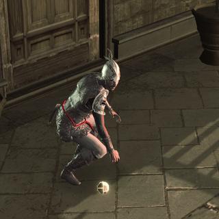 Un garde agile s'emparant de la Pomme