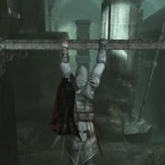 Ezio actionnant l'un des leviers