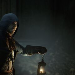 Arno explorant les catacombes