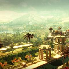 Arbaaz Mir überblickt einen Palast