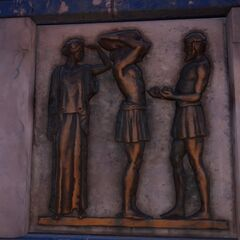 描绘赫拉克勒斯的第十一件功绩的浮雕