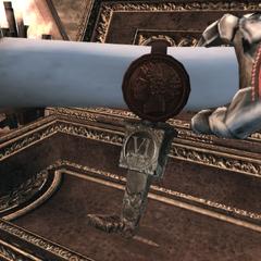 Ezio s'emparant du parchemin de Romulus