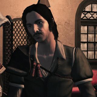 Antonio s'excusant auprès d'Ezio pour avoir sous-estimé ses talents