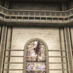 Ezio se frayant un chemin vers la lanterne