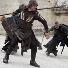Aguilar vecht tegen een aantal Tempeliers