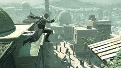 Altair usa la corsa acrobatica