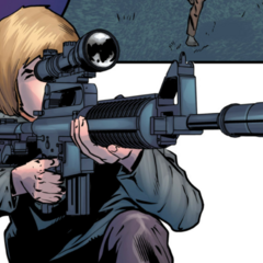 加林娜使用狙击枪