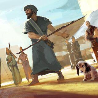 毕达哥拉斯保护一只狗