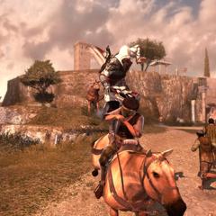 Ezio assassinant le premier chef