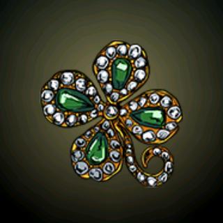 四叶绿宝石 - 一叶命运、一叶希望、一叶爱情和一叶幸运。