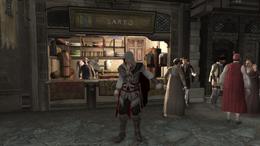 Ezio przed stoiskiem krawca we Florencji (AC2) (by Kubar906)