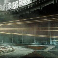 Concept art of Ezio opening the Vault
