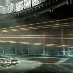埃齐奥打开密室大门的概念设定图