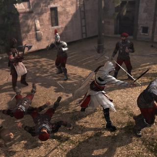 Ezio affrontant les gardes d'Il Carnefice