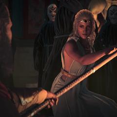 列奥尼达斯与皮提亚会面