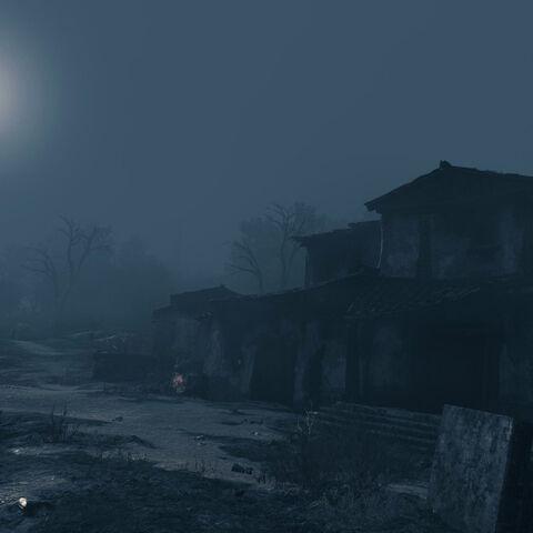 夜晚的卡乌索斯村