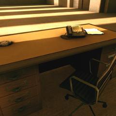 The receptionist's desk