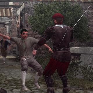 克劳迪奥攻击一名卫兵