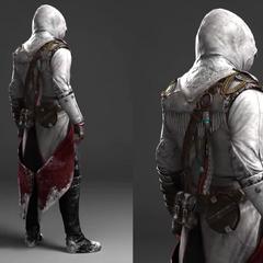 康纳服装的早期版本后视图
