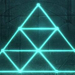 gelijkzijdige driehoek op de ingang van kerker