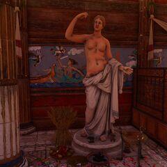 可能属于柯瑞的雕像