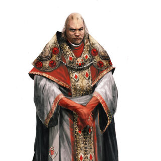 Original concept art of Rodrigo after becoming Pope.
