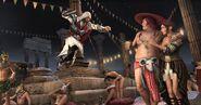 Ezio tuant Juan Borgia