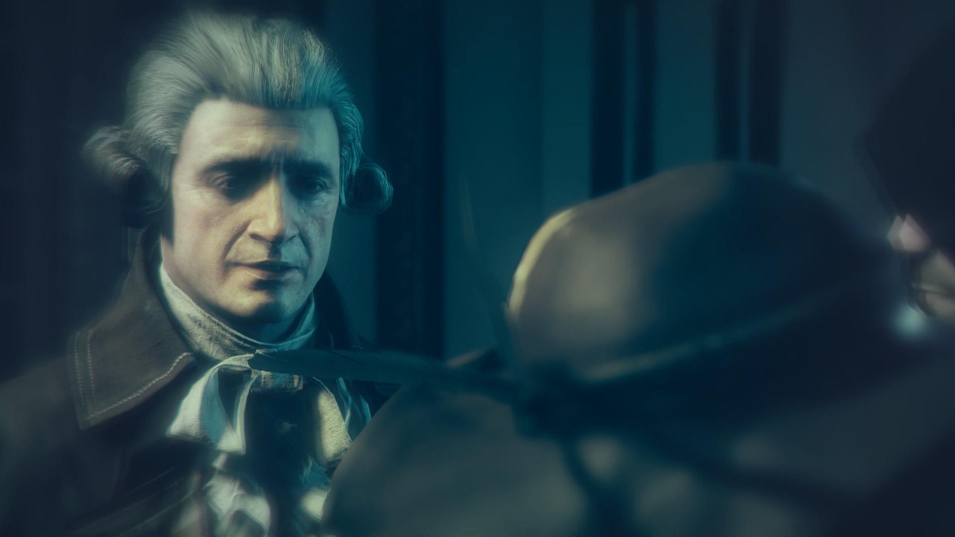 Encuentro de Robespierre con La Touche. Imagen del juego Assassin's Creed: Unity.