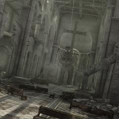 La basilique du palais en ruines
