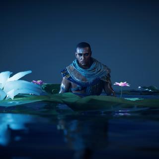 Bayek émergeant des eaux de la Douât