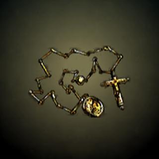 十字炼 - 炼上有黄金十字和金牌的装饰。